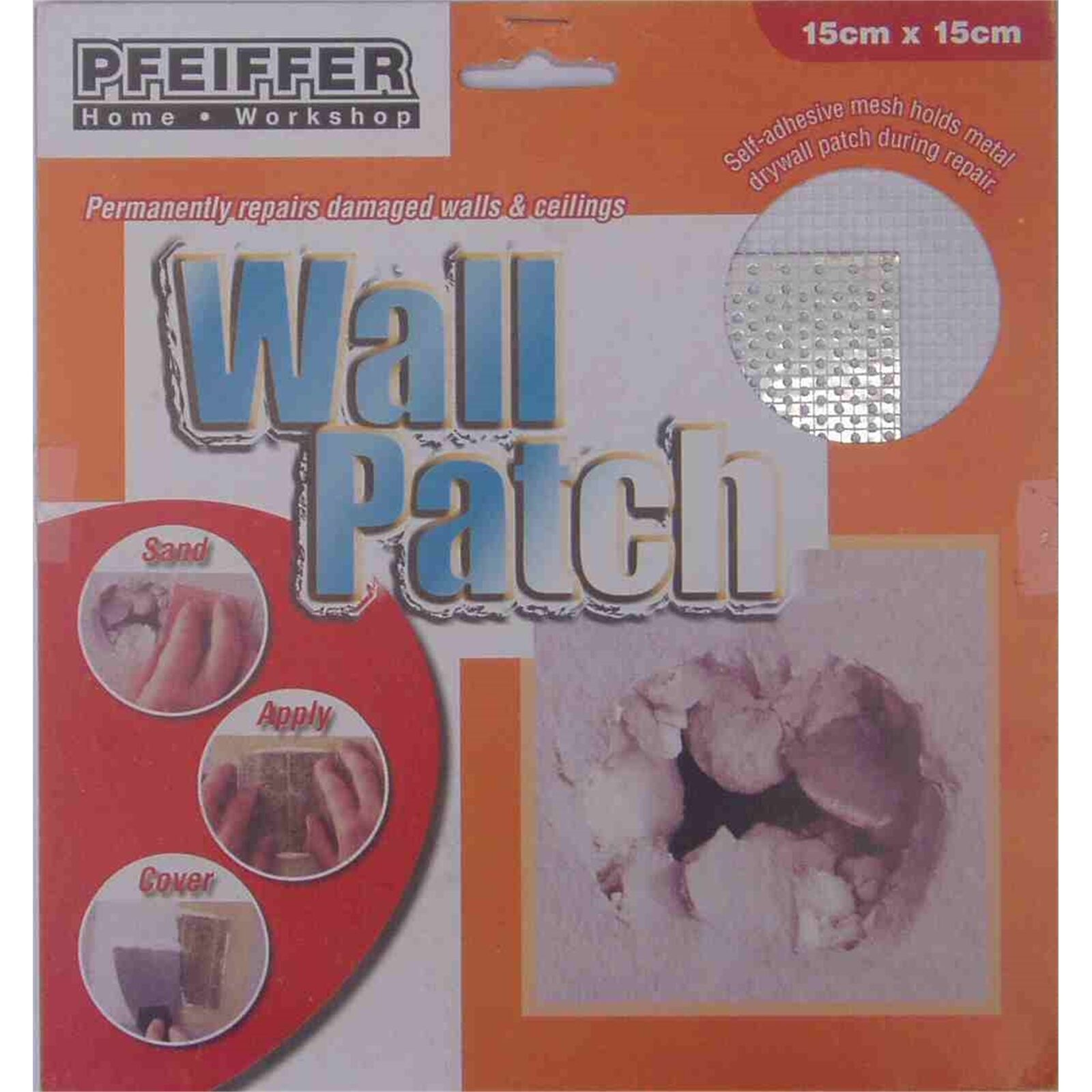 New Pfeiffer 15cm Plaster Repair Wall Patch Diy Repair Damage Ceiling Hole Ebay