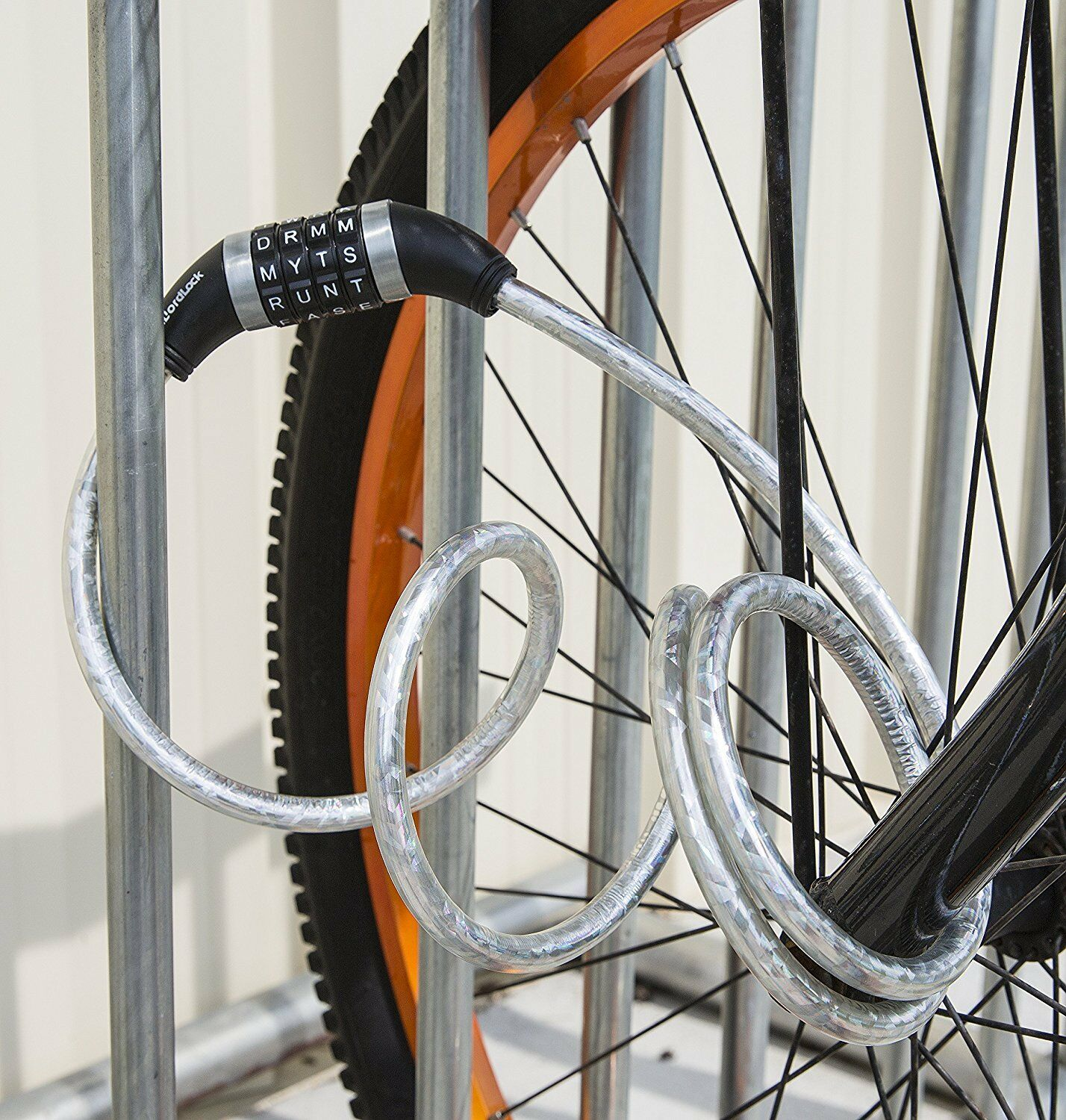 New Syneco wordlock cable lock bicycle security bike cage secure key